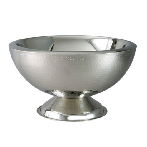 Punch Bowl Double Wall Stainless Steel Hammered 3 Gallon