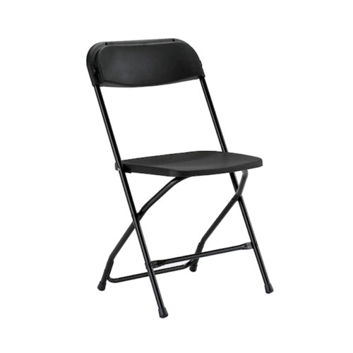 Folding Chair - Black with Black Frame