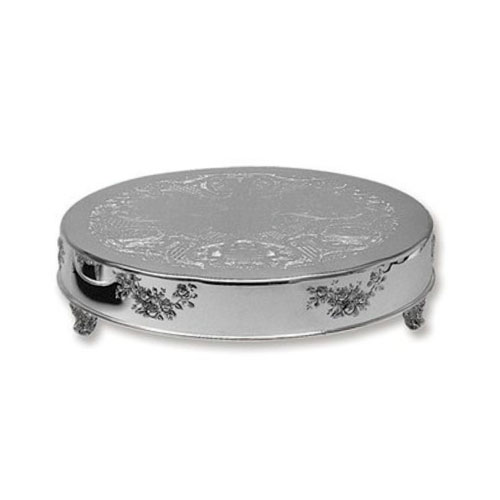 Silver Cake Stand Traditional 18 inch Round