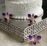 Cake Stand Crystal 14 inch Square