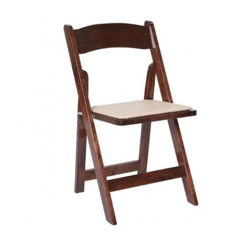 Garden Chair with Padded Seat - Fruitwood