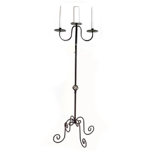 Black Iron Unity Candle Stand