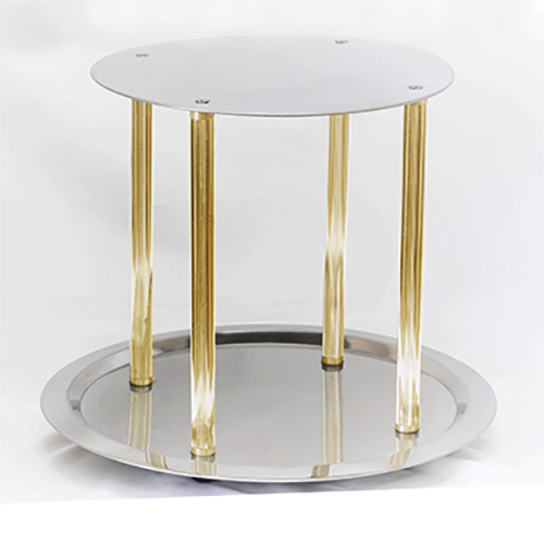 2 Tier Stand w/Gold Columns