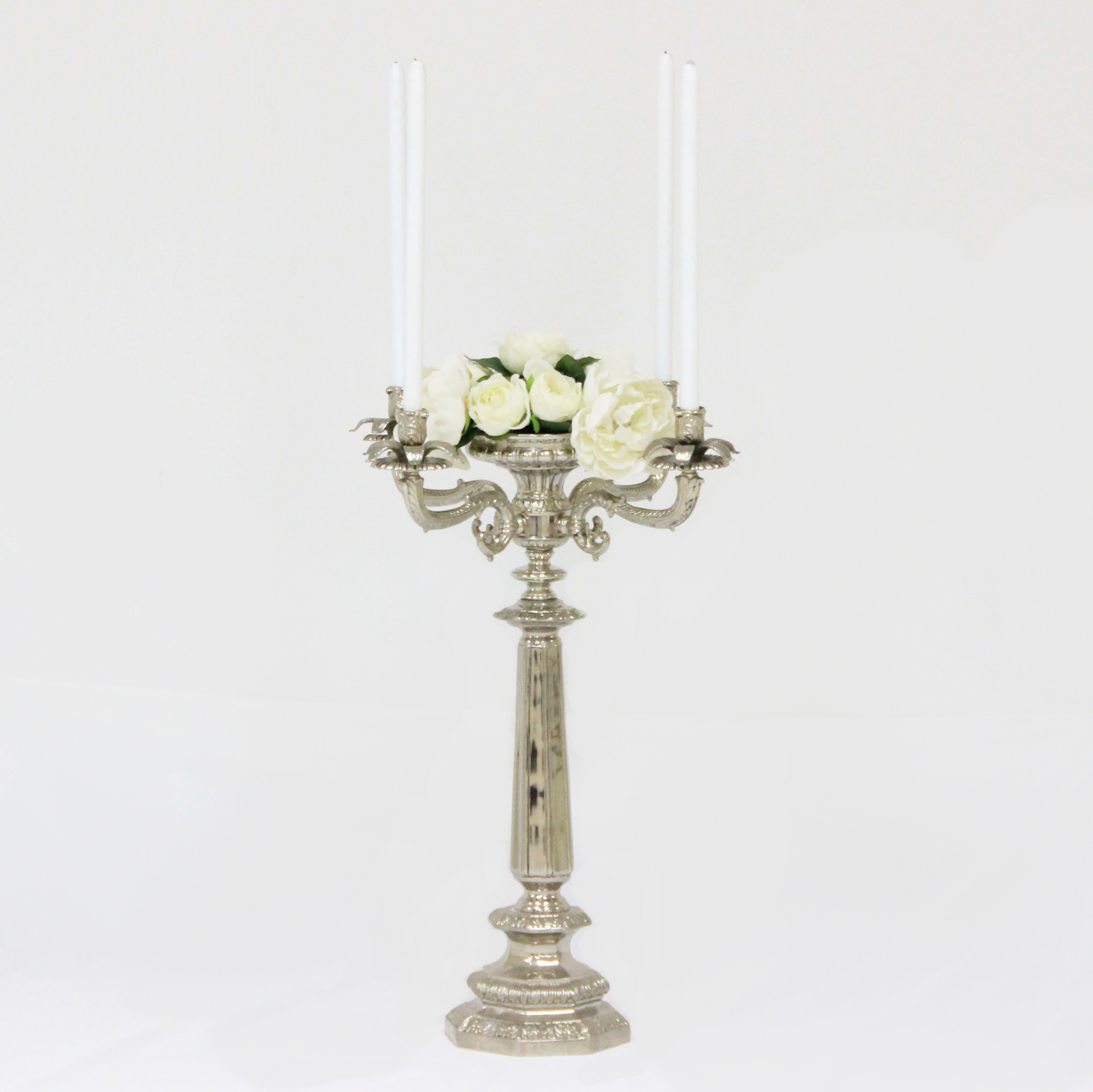 Candelabra 4 Branch SS with Floral Vessel