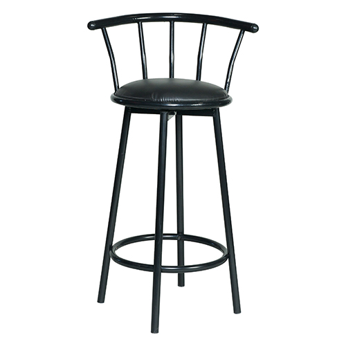 Black Swivel Bar Stool
