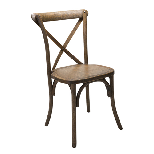 X Back Farm Chair, Antique