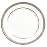 Platinum Rimmed Dinner Plate