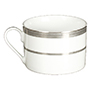 Platinum Rimmed Coffee Cup