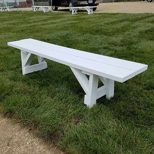 White Wood Bench 6'