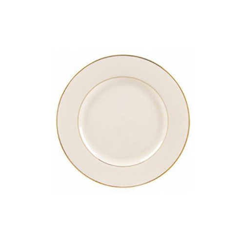 Gold Rimmed Ivory B&B Plate