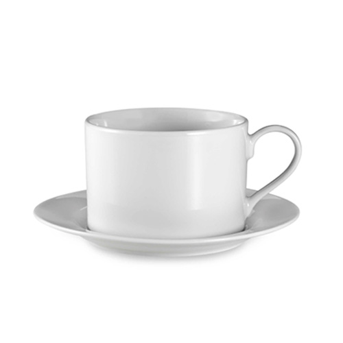White Classic Coffee Cup & Saucer