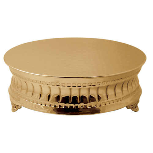 Gold Hammered Cake Stand 18 Inche Round