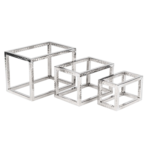 Hammered Frame Risers Set of Three