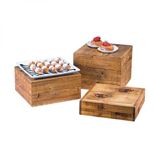 Madera Square Wood Risers