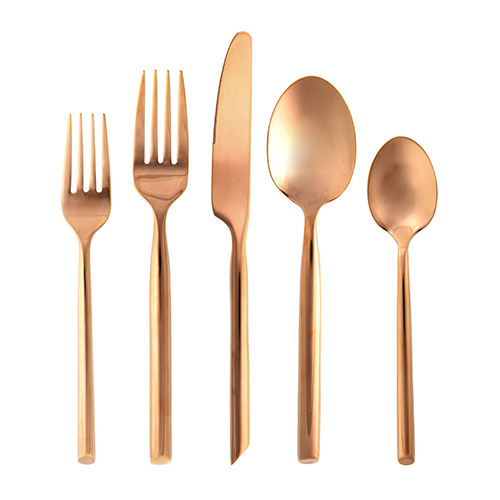Capri Flatware, Brushed Copper