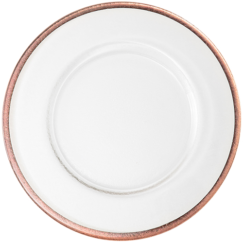 Copper Foil Rim Charger