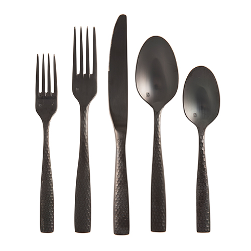 Lucca Flatware, Brushed Black