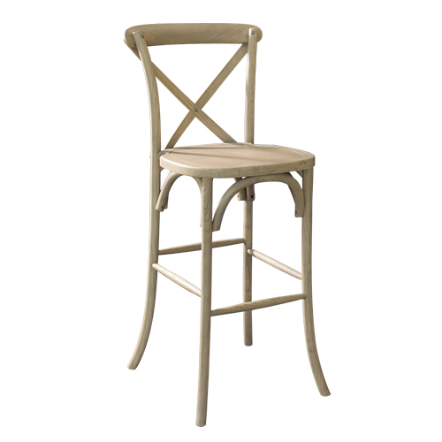 X Back Farm Bar Stool, Natural